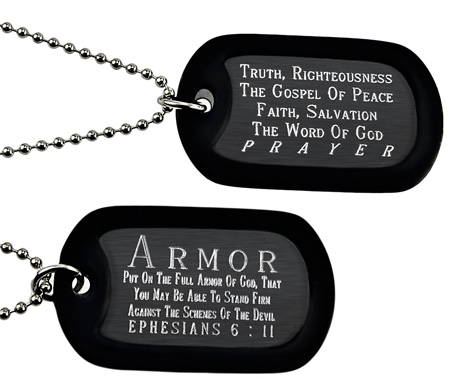 Dog Tags With Scripture Jewelry